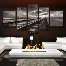 Wall pictures For Living Room Railway 5Pcs Unframed Modular Pictures Hot Cuadros Decor Top Painting Canvas Printing HD Posters