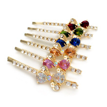 6pcs Hairgrips Bow Tie Zircon Hairpins Butterfly Crystal Rhinestone Hair Jewelry Accessories Headwear Hair Barrettes Clip(China)