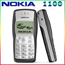 Cheapest Original Nokia 1100 Mobile Phone Unlocked GSM900/1800MHz cellphone with multi languages 1 Year Warranty free shipping(China)