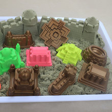 6Pcs/Set Castle pyramid Taj Mahal Sand Mold House Sandcastle Model Tool For Kids Play Beach Sand Clay slime magic sand