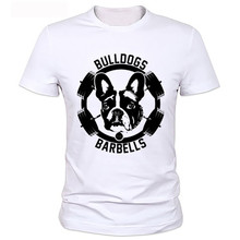 Short Sleeves Cotton T Shirt dog logo printed t-shirts New summer design coton t shirts(China)