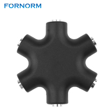 FORNORM 3.5mm Hexagon Shape Earphone Adapter Audio Stereo Output Distributor Headphone Splitter Male To Female Extension Line(China)