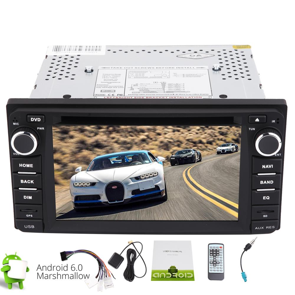 Android 6.0 Stereo 2din GPS Car gps DVD Player GPS Navigation Car Radio Stereo support Wifi 4G/3G FM OBD Vehicle GPS for TOYOTA