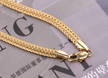 Gold Color Men's Chain Necklace New 2017 Gold Filled Men jewelry(China)