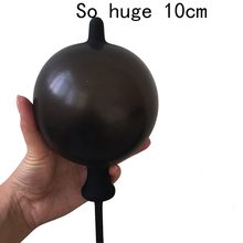Buy huge inflatable anal plug silicone anal Expansion speculum butt plug dilatador anal balls anus stimulate buttplug anal sex toy