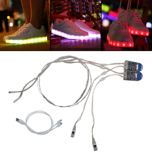 Led Shoes Strip Light USB Charge SMD3528 60CM 24led For DIY Stage Customes Event & Party Supplies LED Shoe Lighting(China)