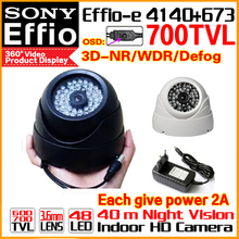 High Quality 1/3Sony Effio CCD Real 700TVL Analog 960H Color HD Camera Cctv Surveillance Products Indoor Dome Infrared 48LEDS Os(China)
