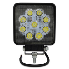 1pcs 27w led worklight 1800 lm 9pcs*3w Epistar Flood/spot beam led tractor work lights 27w for 4x4 ,Offroad Car healights(China)