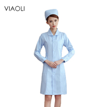 Ladys White Short Sleeve Lab Coat Doctors Surgeon Scientist Outfit Fancy Dress Costume Warehouse Long Jacket(China)