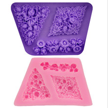 3D Silicone Mold Rose Shape Mould For Soap,Candy,Chocolate,Ice,Flowers Cake Decorating Tools JD869(China)