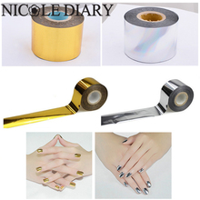 1 Roll Holographic Starry Sky Nail Foil Tape 4cm*120m Nail Art Silver Gold Transfer Sticker 8318329