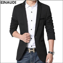 EINAUDI 2017 Hot Men's Fashion Casual Slim Fit Suit Jacket Solid Color High Quality Masculine Blazer Free shipping M-5XL