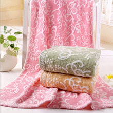 Free Shipping Newest 70*140cm Sandy beach Towel High Quality Bamboo Fiber Fashion Flowers Jacquard Bathroom Towel Home Textile(China)