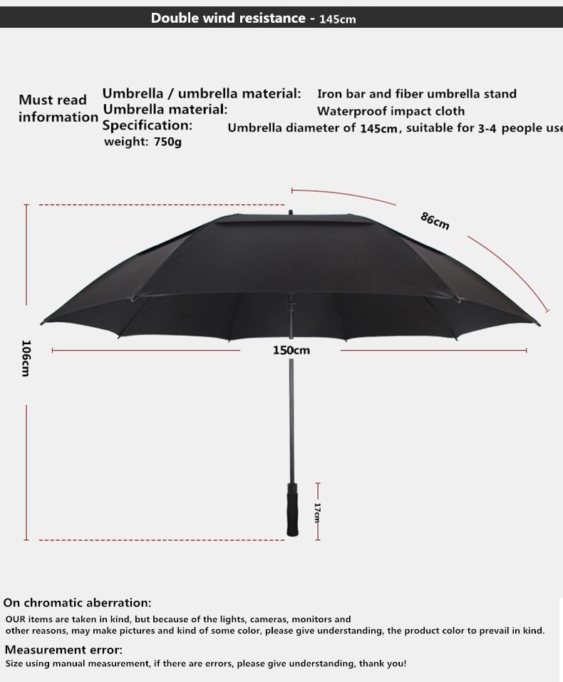NX Creative Large double layer golf umbrella 145cm to 150cm umbrella men windproof strong long umbrellas for men business (8)