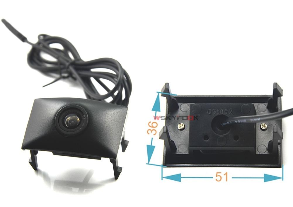CCD Car Front View vehicle Logo Camera for Audi A6L Q5 Q7 Q3 A4L A4 b8 front logo camera Brand Mark Camera PAL/NTSC 7