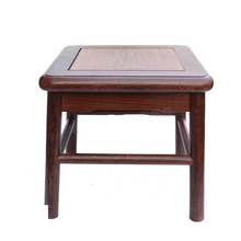 Wenge small square stool redwood stone vases of Buddha base solid wood carving handicraft furnishing articles