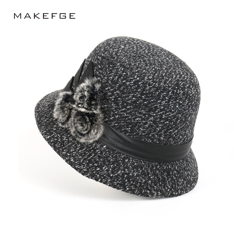 3df38662907 New Women Fedoras Dome Winter Hats For Women Floral Casual Brand Warm Lady  Autumn Floppy Soft