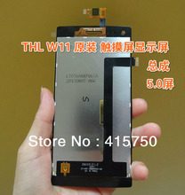 Original THL W11  Touch screen + LCD assembly for THL W11 Quad-core mobile 5.0-inch IPS giant screen hd -free shipping