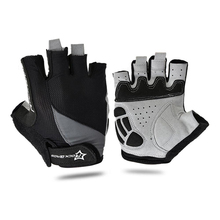 RockBros Non-Slip Breathable Mens Women's Summer Sports Wear Bike Bicycle Cycling Cycle Gel Pad Short Half Finger Gloves S077
