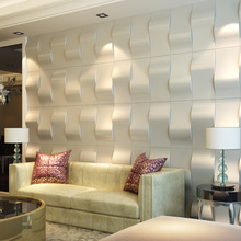 Eco 3D Faux Leather Wall Tiles Peel and Stick Textured Wall Covering PU Material Panels Stickers 9.8''x19.7''(China)