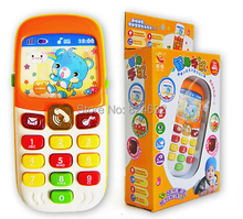 Kid Toy Phone Cellphone Mobile Phone Early Educational Learning Toys Machine Music Electronic Phone Model Infant Baby Toys Gift