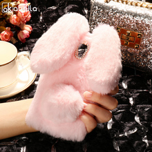Buy AKABEILA Silicon Case Lenovo A536 Cases Rabbit Hair Bling Diamond A358T 536 Soft TPU Cute Anti-knock Cover for $7.47 in AliExpress store