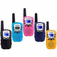 2pcs Mini Toy Walkie Talkie Retevis RT388 UHF 446MHz 0.5W 8CH Kids Children LCD Display Flashlight cb Radio VOX A7027(China)