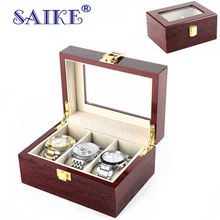 SAIKE Luxury Watch Boxes MDF Wristwatch Packaging Case Box Rectangle Storage Boxes for Expensive Watch Display Collection 3Grid(China)