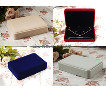 Newest Noble Velvet Jewelry Set Storage Box Necklace Packaging Box Pendant Bracelet Ring Earring Boxes Jewellry Suit Cases