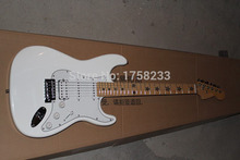 . Free shipping 2015 Wholesale ST electric guitar fretboard pentagram stratocaster guitar(China)