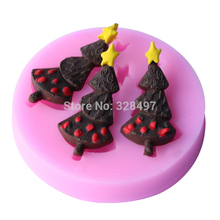 Small Size Christmas tree Shape Silicone molds Handmade Soap Mold, Fondant Cake Decoration Sugar Craft Tools baking tools E032