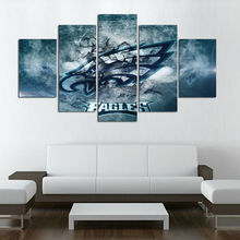 Modular Wall Paintings 5P Philadelphia Eagles New Eagle Sports Team Logo Poster Oil Painting On Canvas Pictures For Living Room