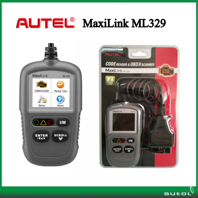 Stock Fast Shipping !!! Aute MaxiLink ML329 Car OBD2 Diagnostic Tool Read and Erase codes on domestic, Asian and European cars(China (Mainland))