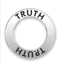 Finish Anti-silver Alloy Truth Message Affirmation Ring Circle Charm Hot Sale 2015 New Products