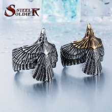 Steel soldier Unique jewelry Stainless Steel Biker Eagle Ring Man's High Quality Jewelry