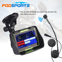 4.3 Inch Motorcycle Navigation Waterproof GPS Navigator 256M RAM 8GB Flash Free Maps Instruction Voice+Bluetooth Headset