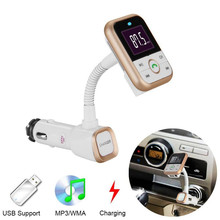 SAIYU Bluetooth Car Kit FM Transmitter LCD MP3 Player Handsfree Wireless Radio Adapter USB Charger + Remote Control BT67(China)