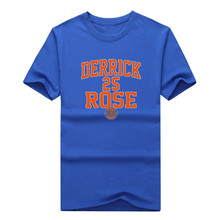 2017 Derrick Martell Rose New York #25 T-shirt Tees Short Sleeve T SHIRT Mens Fashion Plus Size Free Shipping W1019007