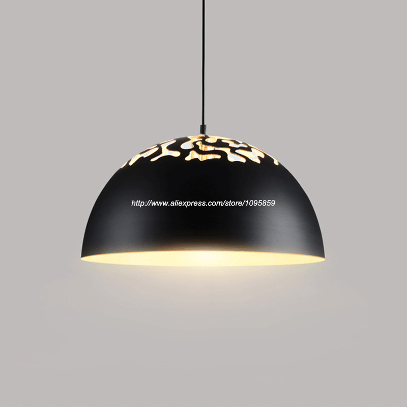 Aluminum Pendant Light Fixture Black White Cloud Dining Room Ceiling Lamp D 35/40cm  Lamparas de aluminio modernas<br>