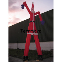 christmas air tube man for advertising,Inflatable santa air dancer with two tube air dancing dance wind tube man(China)