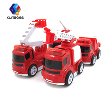 4Pcs/Set Children Toy Flashing Fire Truck Mini Truck Plastic Car Red Musical Toy Vehicles toys For Children(China)