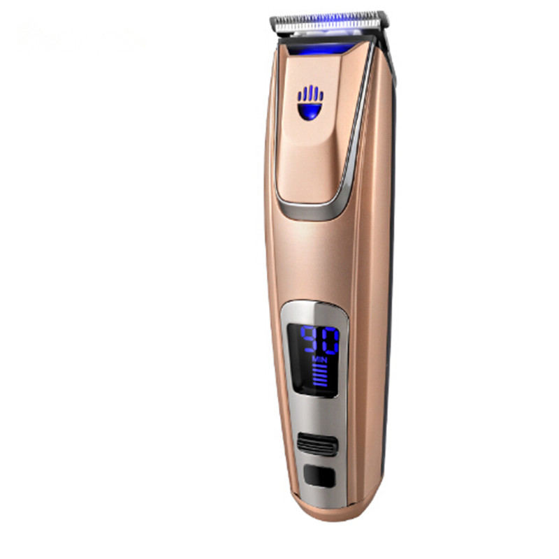 LED Display Hair Clipper Lithium-ion Battery Hair Trimmer USB/Adapter Charge Beard Trimmer With Headlight 110-220V<br>