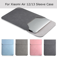 "New Laptop Case Sleeve for Xiaomi Air 12 13 inch Matte Leather Case for Xiaomi mi Notebook Air 12.5 13.3"" Cover Bags(China)"