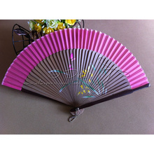 Free Shipping  Random Color Wedding Chinese Fan with Bamboo Handle/Summer Wedding Favor/Wedding Gift/Garden Supplies