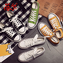 Free shipping summer autumn high quality  low canvas shoes breathable  flat-bottomed single classic women's casual shoes