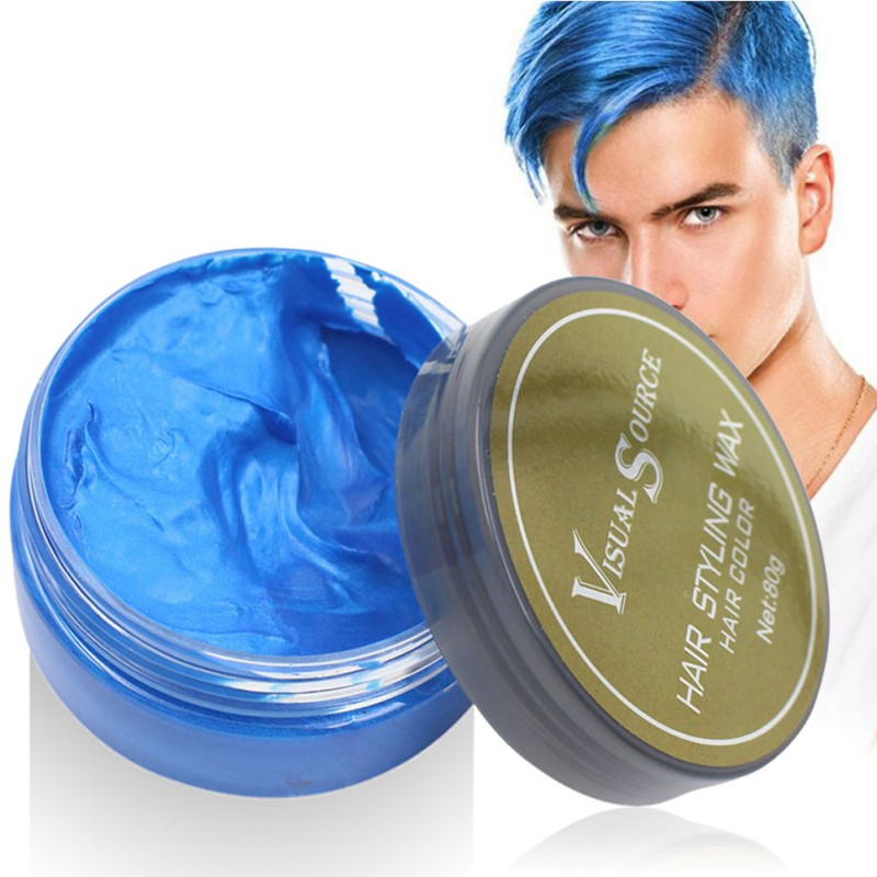 Professional Dynamic Modeling Hair Wax Makeup 5 Colors Hair Dye Wax Hair Color One-time Molding Paste Color Hair Wax New 2018 9