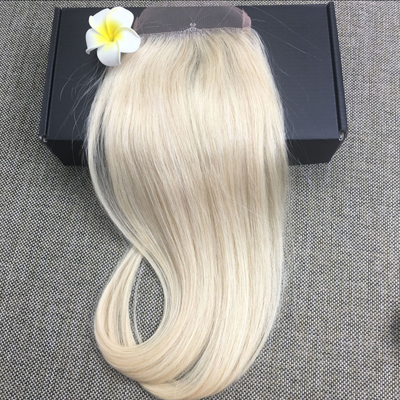 Full Shine Brazilian Remy Hair Lace Closure Color 613 Blonde Straight Lace 100 Real Human Hair Free Part Lace Closure 4 * 4<br><br>Aliexpress