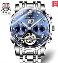 Auto mechanical  Binkada 7062 Turbilon 30M fashion Multifunction luxury watch Men auto watch