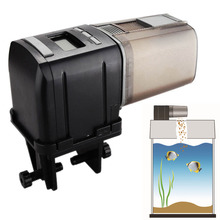 automatic fish feeder Intelligent Programmable Mini Digital LCD Auto Fish Feeder Aquarium Tank Automatic Food Dispenser(China)