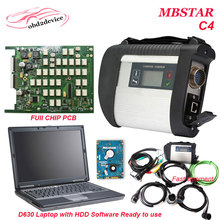 Hot selling star diagnosis mb star c4 sd connect with software v2017.3 multi languages and d630 notebook For Car&truck DHL free